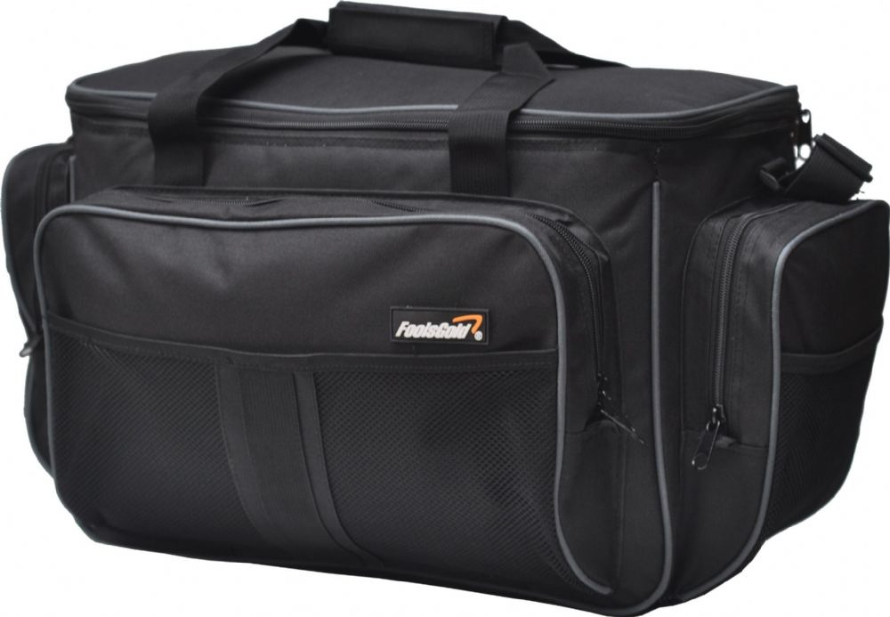 Large Black Insulated foolsGold Fishing Holdall Bag
